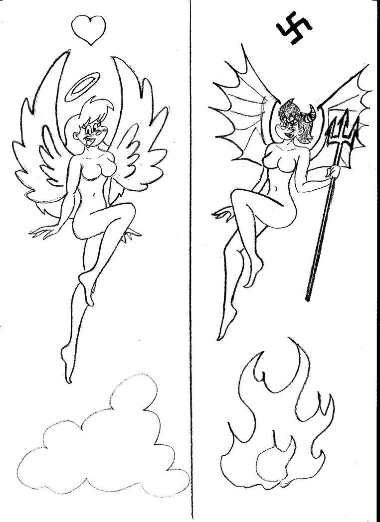 Angel and Devil by MarcoMarasco