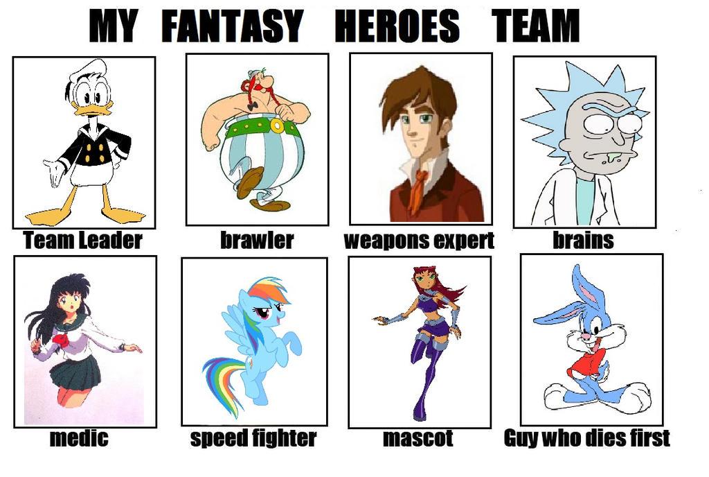 My fantasy heroes team by MarcoMarasco