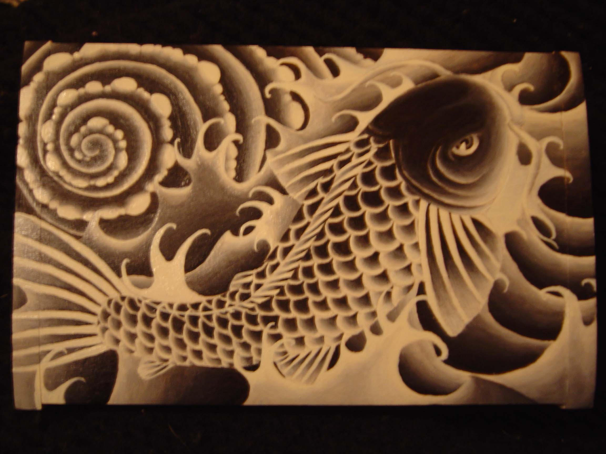 GRACEFUL Feng Shui Painting Japanese Koi Fish Painting | eBay