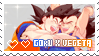 Goku x Vegeta Stamp by BearSenpaii