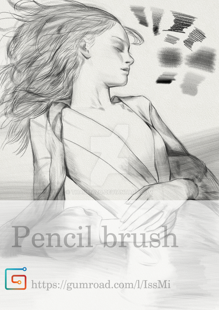 My pencil brush photoshop cs6 cc2018 by thaumazo