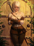 Welcome to Witcher - Ciri fanart  commission\