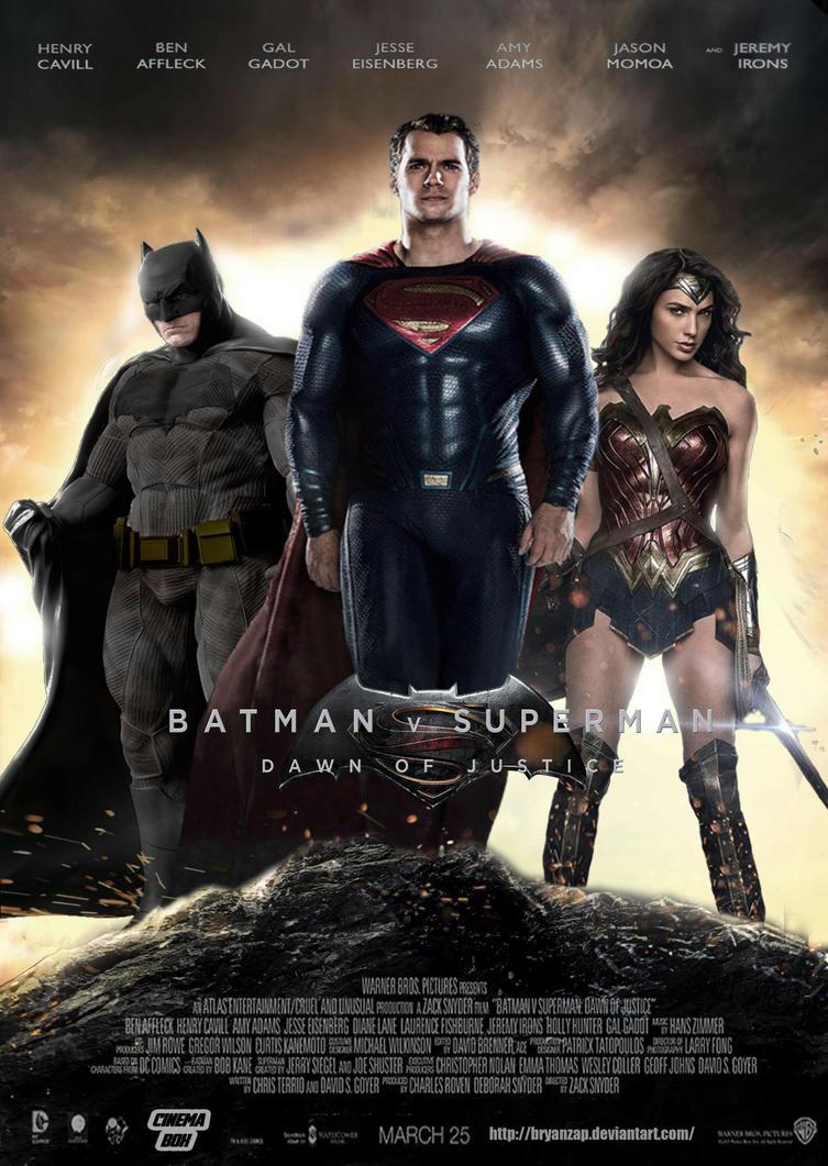 Batman v Superman: Dawn of Justice Trinity Poster by ...