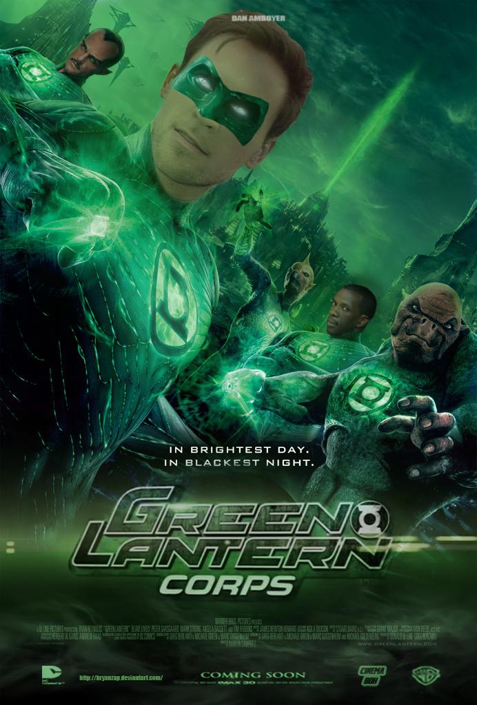 Dan Amboyer Green Lantern Corps Movie Poster by Bryanzap ... Green Lantern Movie Poster