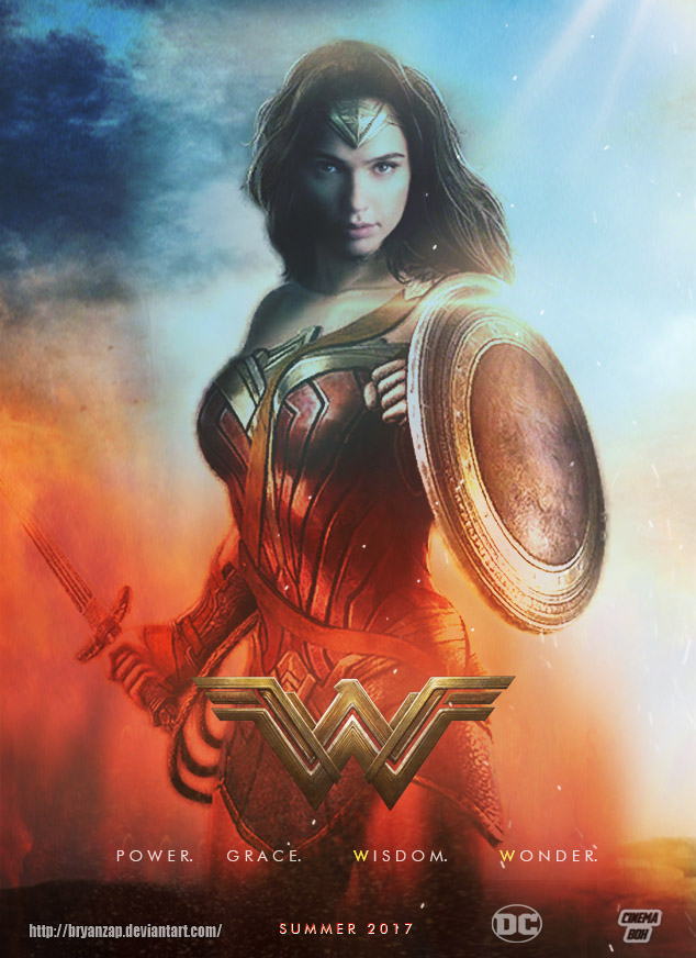 Wonder Woman Gal Gadot Poster By Bryanzap