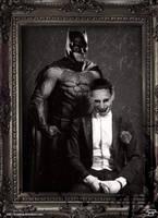 Batman/Joker Portrait by Bryanzap