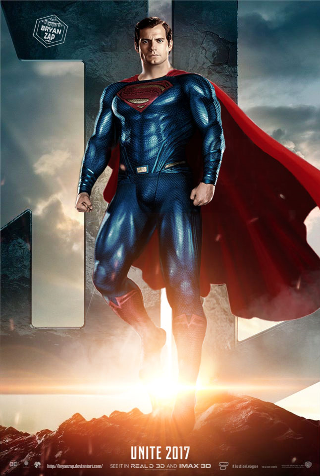 Superman Justice League Poster by Bryanzap on DeviantArt