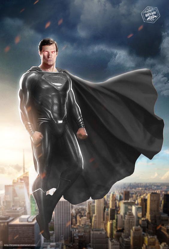 Download The Image Of The Evil Superman With Black Suit: JL Superman Black Suit By Bryanzap On DeviantArt