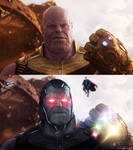 Thanos / Darkseid - Before And After