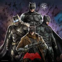 Ben Affleck Batman Costumes Art by Bryanzap