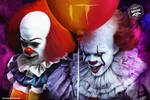 Tim Curry and Bill Skargard Pennywise art