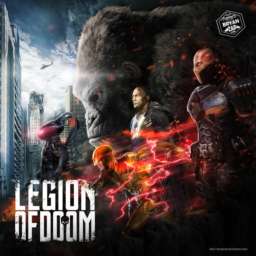 Legion of Doom art based on the Rampage poster by Bryanzap ...