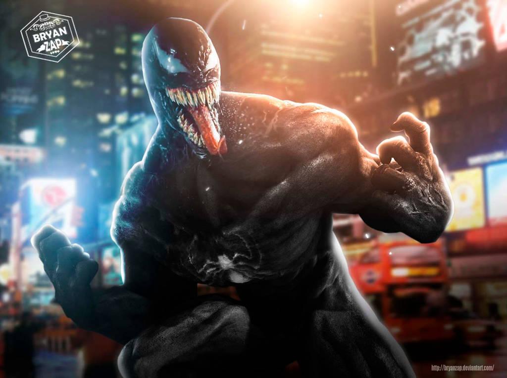 Venom Movie Art by Bryanzap