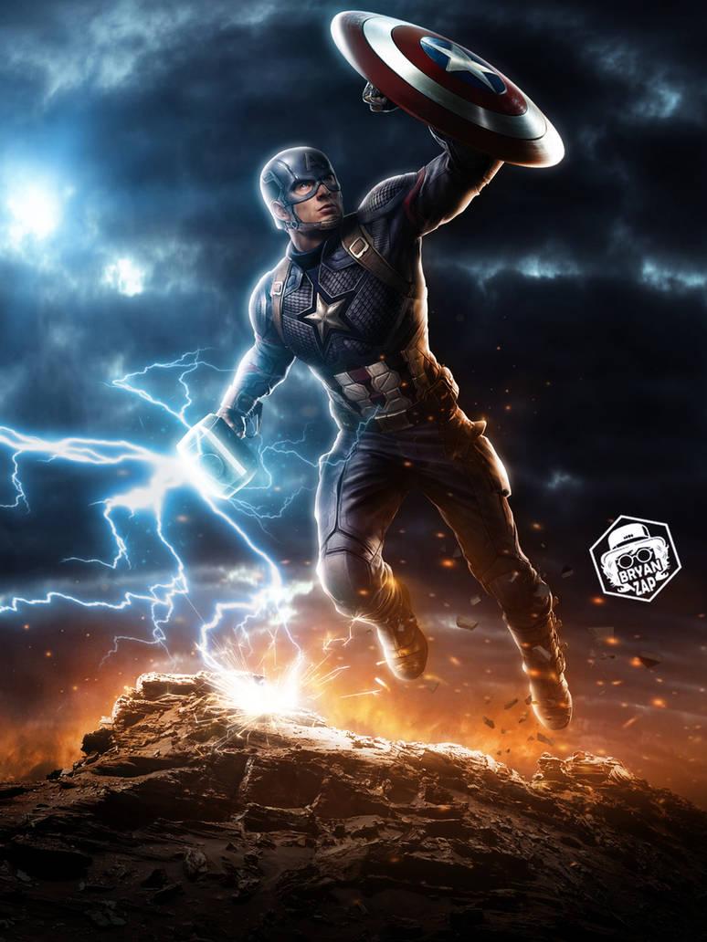 Captain America Mjolnir Art by Bryanzap on DeviantArt