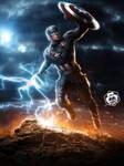 Captain America Mjolnir Art