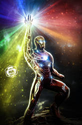Iron Man Infinity Guantlet by Bryanzap