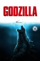 Godzilla Jaws Poster by Bryanzap