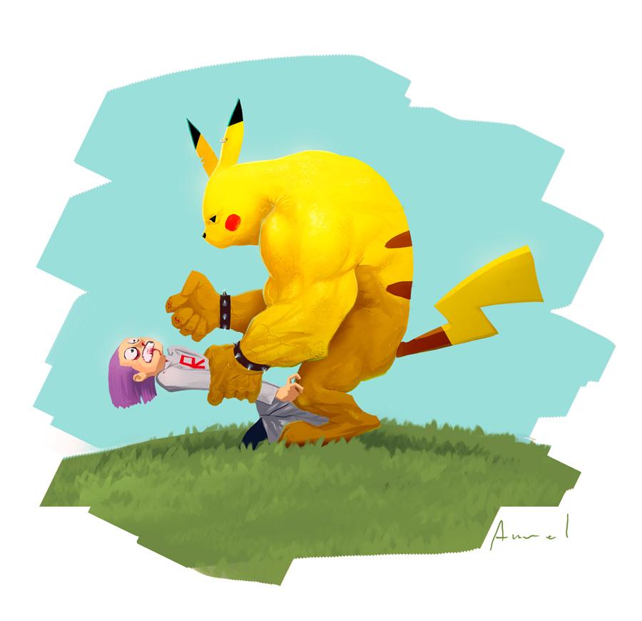 Badass Pikachu by A-u-R-e-L