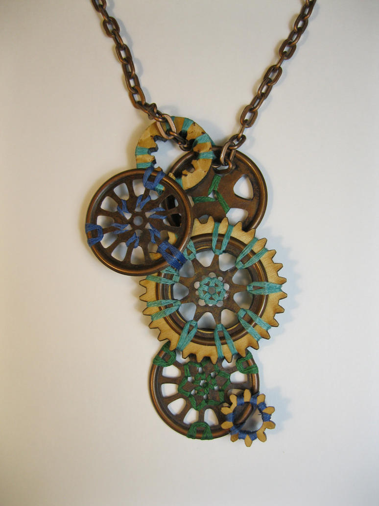 Circles and Cogs, Part Two - Steampunk Necklace by DanielleDucrest