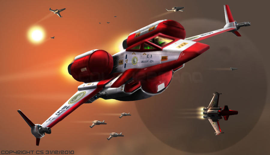 Starblaster Heavy Fighter by Colourbrand