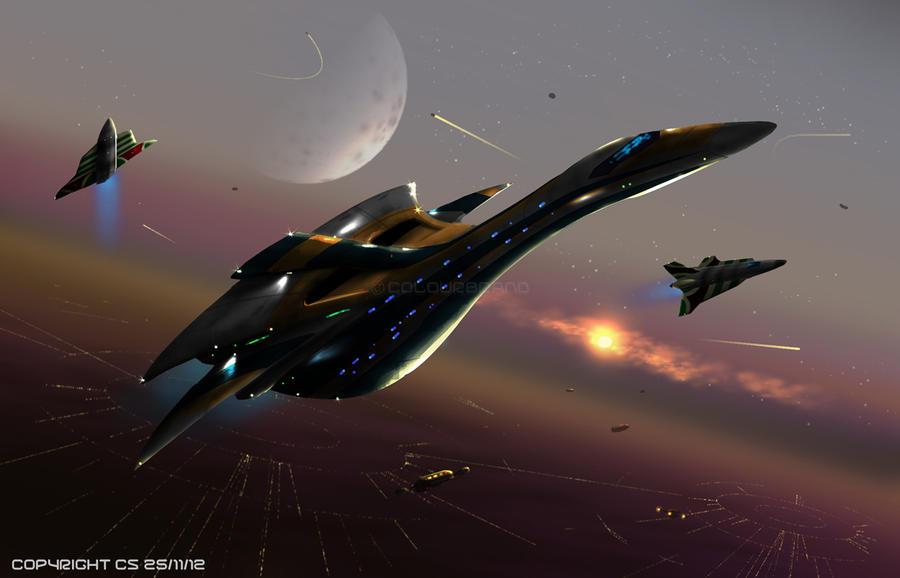 Interstellar Queen Departure by Colourbrand