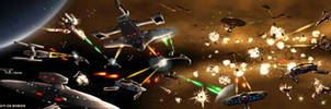 The Battle of Starbase 102 by Colourbrand