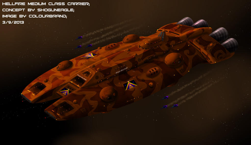 Commissioned: Hellfire Class Medium Carrier by Colourbrand