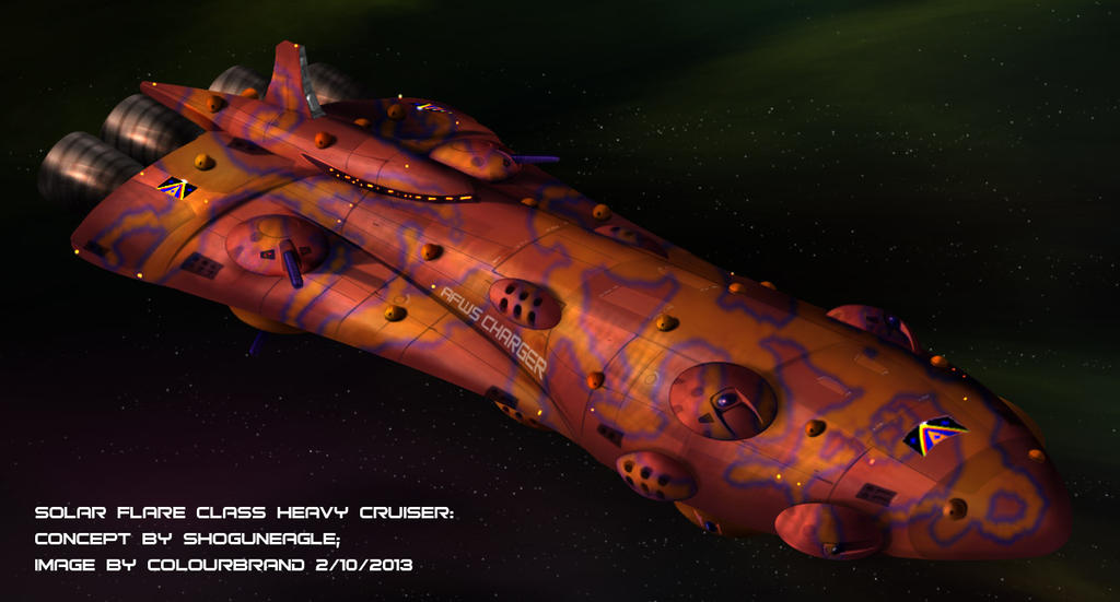 Commissioned: Solar Flare Heavy Cruiser by Colourbrand