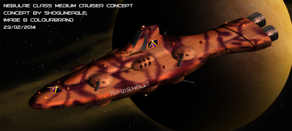 Commissioned: Nebulae Class Medium Cruiser by Colourbrand