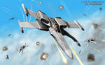 Futuristic X-Wing