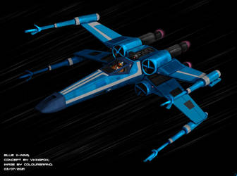 Commission: Blue X-Wing
