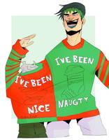 Christmas sweater [fanart] by FroggyLovesCoffee