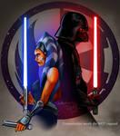 Ahsoka Tano and Darth Vader