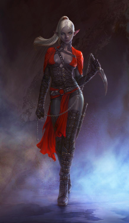 Dark Elf Assassin / Personal work by Gpzang