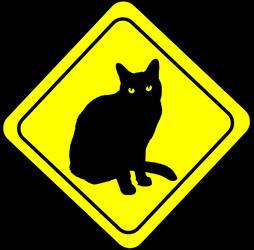 Warning cat by koponafej