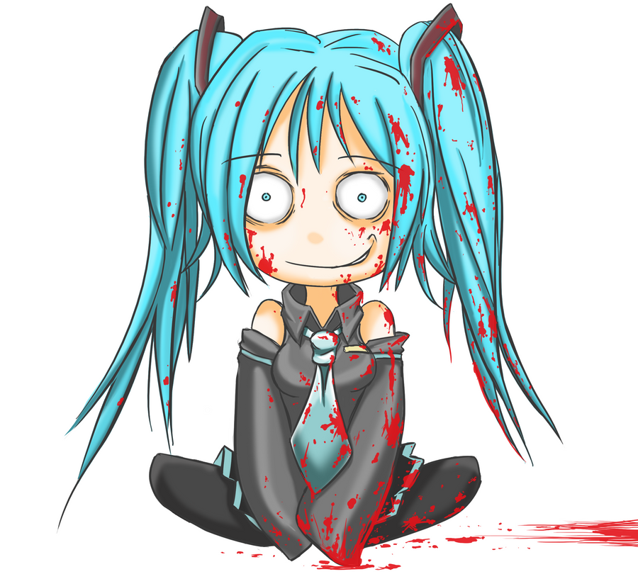 Hatsune Miku Bloody Version By TheOldEnglishB On DeviantArt