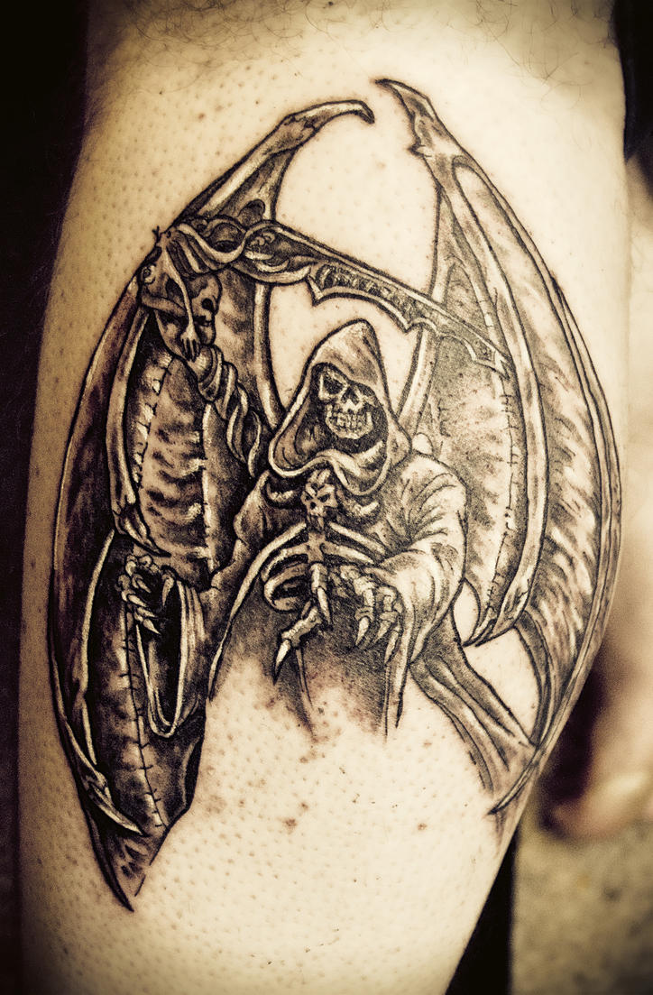 Provoking death tattoo by digitalmemoir on deviantart for Tattoo shops gainesville ga