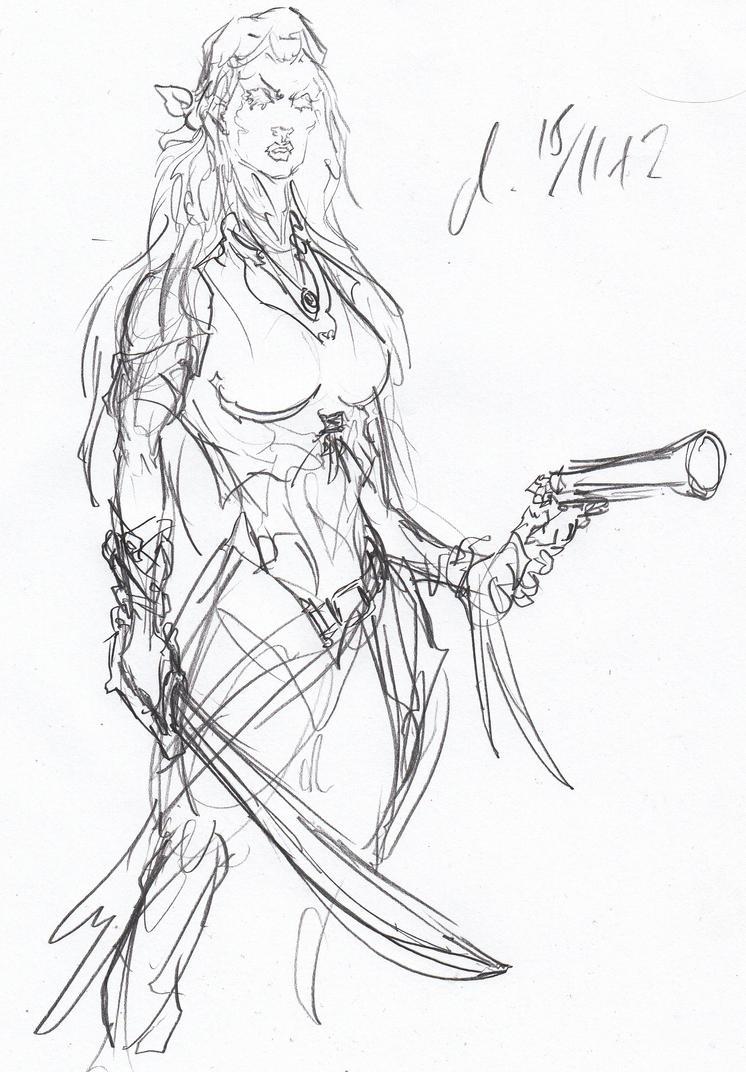 Female pirate drawing - photo#18
