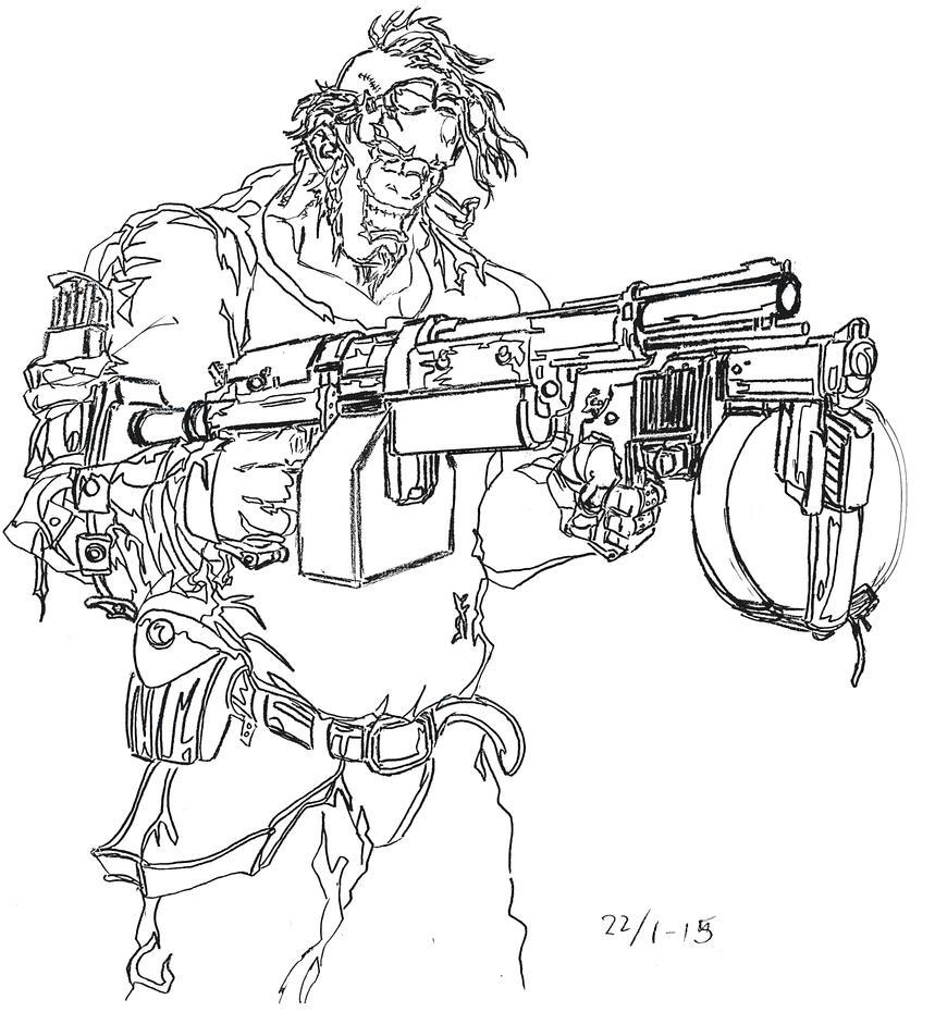 Gunzerker-inspired character by Jeppe Roemer by TolkyJr