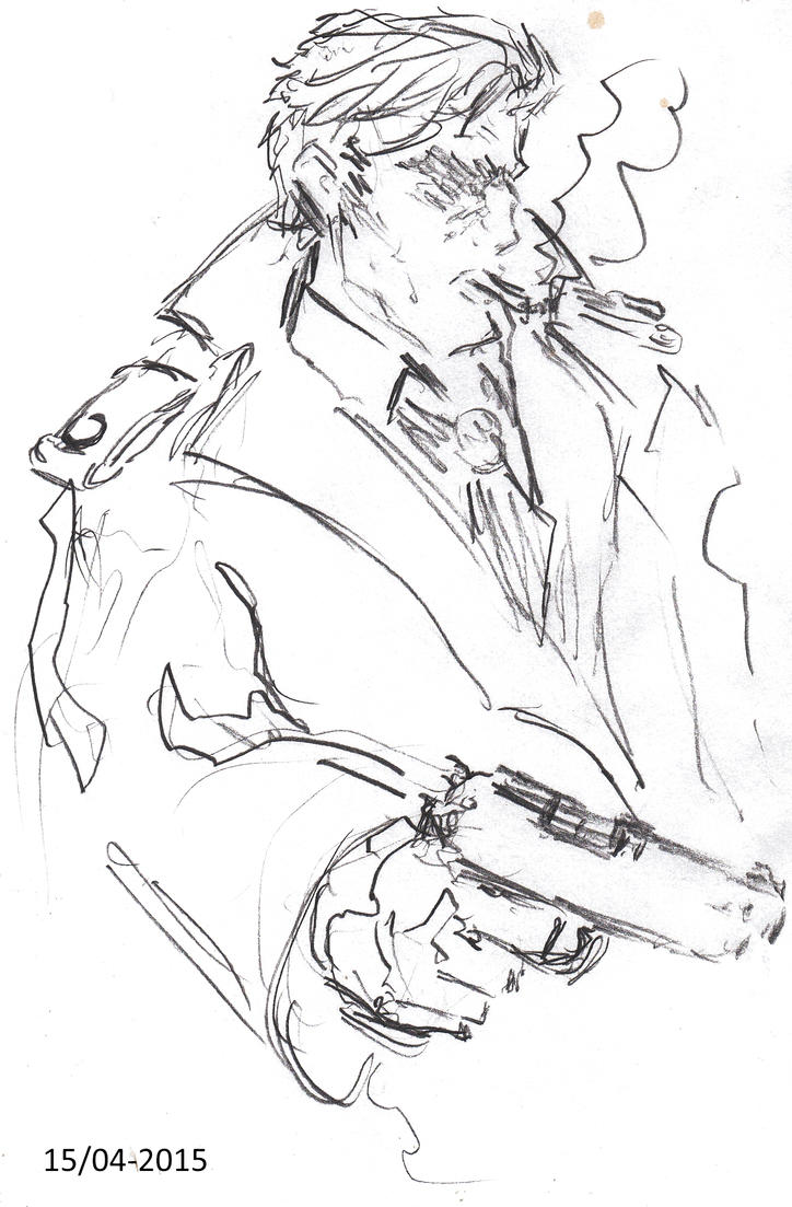 Crime Noir Pinkerton character by Jeppe Roemer by TolkyJr