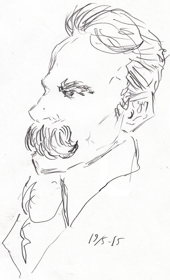 Nietzsche Rough Sketch by Jeppe Roemer by TolkyJr