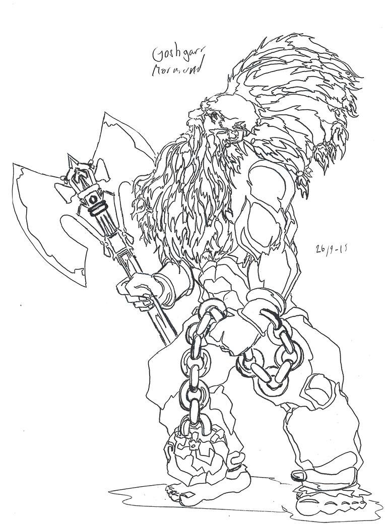 Dwarf Berserker character by Jeppe Roemer by TolkyJr