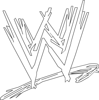 Wwe Logo Coloring Pages Coloring
