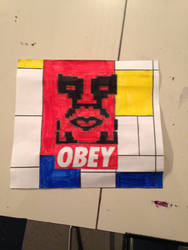 Piet Mondrian and Shepard fairey
