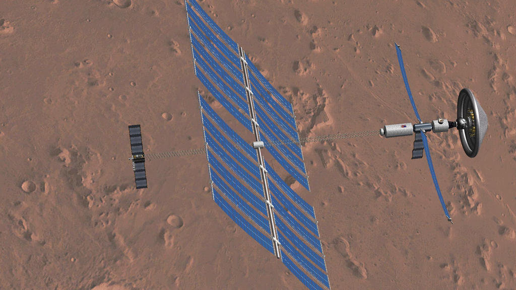 Solar-electric powered to Mars by francisdrakex