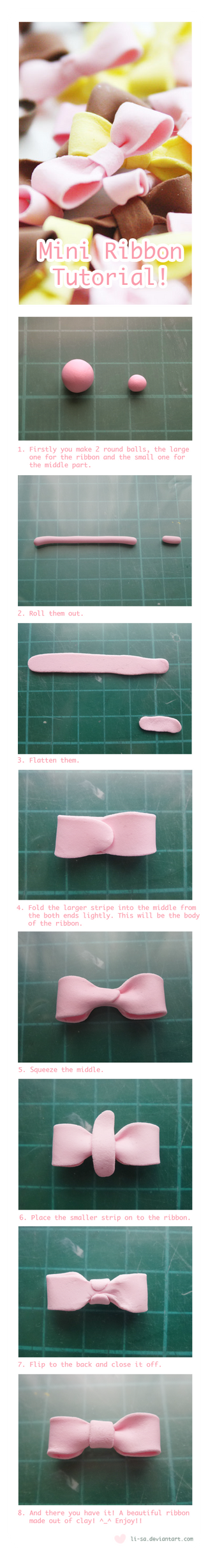 Mini Ribbon Tutorial by li-sa