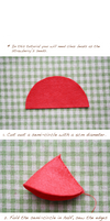 Felt cake tutorial- strawberry