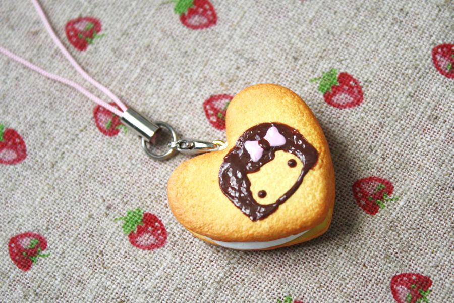 Chibi Heart Cookie by li-sa