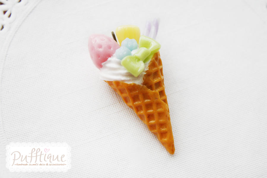 Pastel Ice Cream Charm by li-sa
