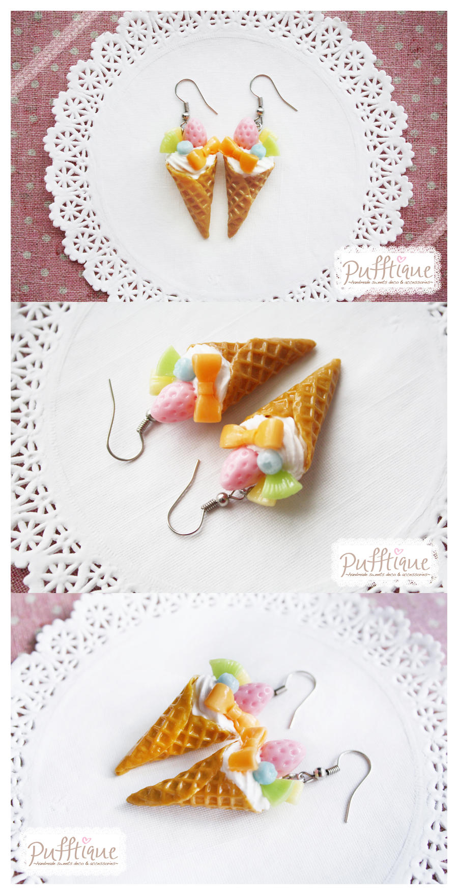 Pastel Ice Cream Earring by li-sa